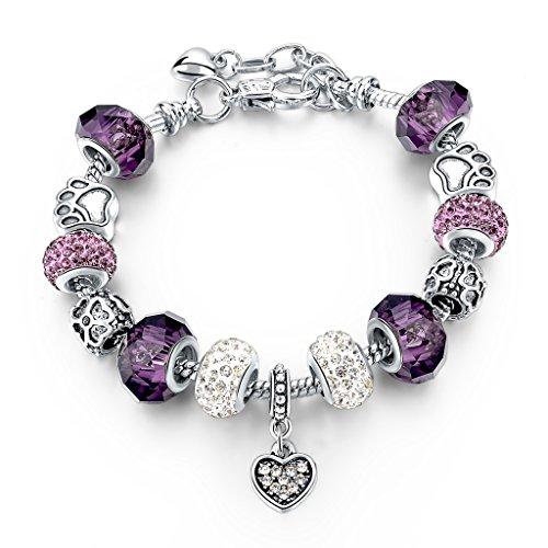 choker silver plated snake chain charm bracelets bangles