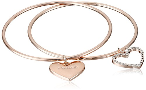 my bracelet bangle charm rose forever in sentiment bangles gold heart