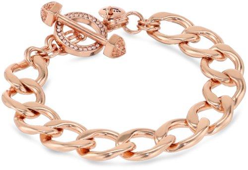 Juicy Couture Replenishment Rose Gold Charm Link Bracelet 75