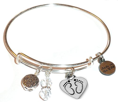 Bracelet In The Alex Ani Style Charm Erfly Flower Paw Print And More Expandable Wire Bangle