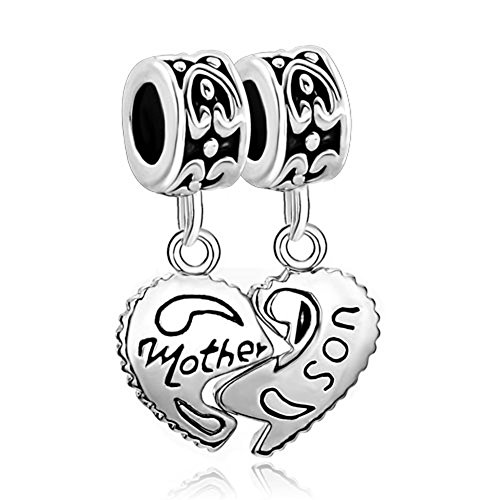 Heart Mom Love Mother Amp Son Family Puzzle Charm New Sale