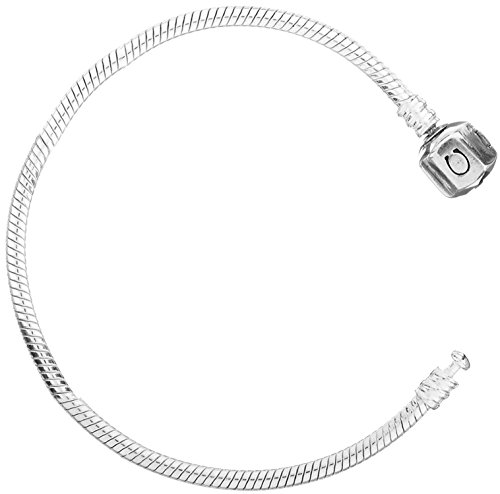 Chamilia Braided Snap Closure Leather Medium Charm Bracelet