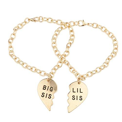 Lux Accessories Gold Tone Freedom Handcuffs BFF Best Friend Bracelet Set 2PC
