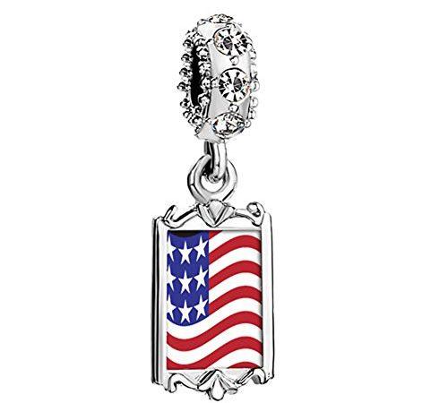 pandora charm american flag
