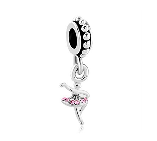 182a179288b43 Q&Charms Dancing Ballet Girl Dangle Birthstone Charms Sale Cheap ...