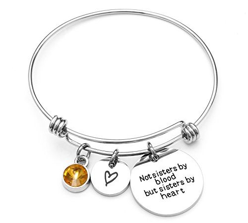 KunBead Jewelry Love Birthstone Lucky Elephant Charms for Bracelets Women Girls Gift for Birthday Friendship