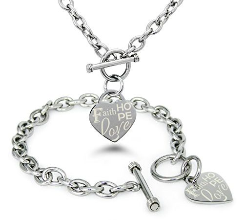 Charms for Bracelets and Necklaces Faithhopecharity Charm With Lobster Claw Clasp