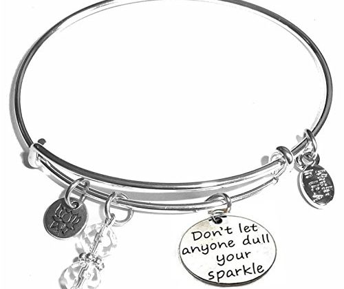 617fcdba87dac Message Charm (46 words to choose from) Expandable Wire Bangle ...