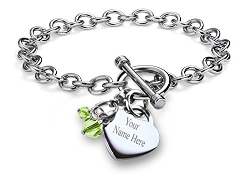 Niece Pave Heart Toggle Charm Bracelet Crystal Silver Hearts Metal Family Member Lobster Claw Bracelets