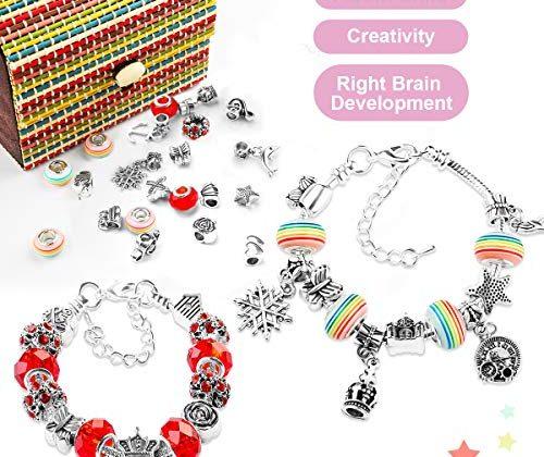 Girls Jewellery Charm Making Kit Kids Necklace Bracelet Craft Beads Set Magical